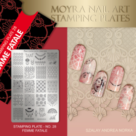 Moyra Stamping Plate 28 - Femme Fatale