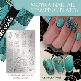 Moyra Stamping Plate 44 - Stained Glass