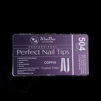 WowBao  Professional Perfect Nail Tips Coffin Crystal Clear 500st