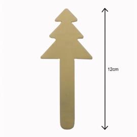 Houten Stokjes met Kerstbomen