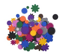 Rubberfoam Stickers Bloemen