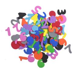 Rubberfoam Stickers Cijfers