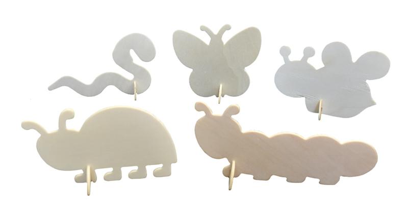 3D Insecten van Hout