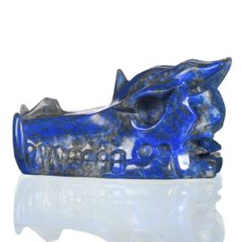 Draken skull lapis lazuli 7,7 cm