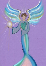Intuitive angel drawing