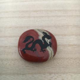 Gelukssteen Draak Jaspis Rood