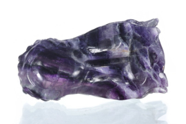 Dragon skull purpe fluorite 7,7  cm
