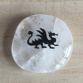 Gelukssteen Draak Bergkristal