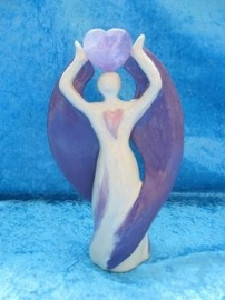 Healing Heart Angel (with glaze)