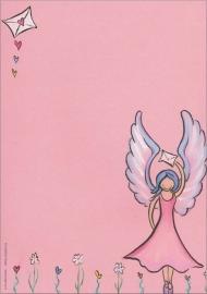 Engelenpostpapier (roze)
