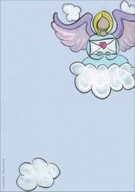 Engelenpostpapier (blauw)