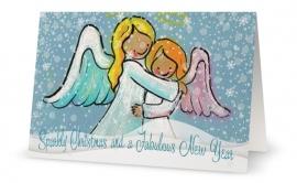 Angel Hug Christmas Cards (5 cards)