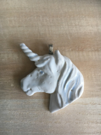Unicorn pendant (white and green)