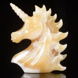 Eenhoorn van gele calciet