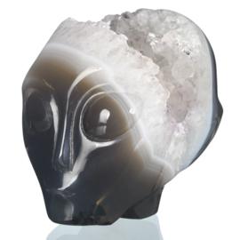 Star Being Agaat Geode 2  (bijna 8 cm)