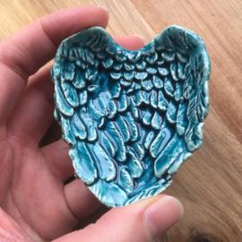 Engelenvleugel schaaltje orientaalblauw