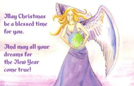 Kerstkaart Wereldengel (enkel)