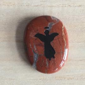 Gelukssteen Engel Jaspis Rood