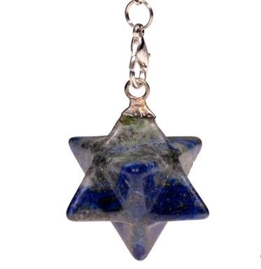 Lapis Lazuli Merkaba pendel - achtpuntig