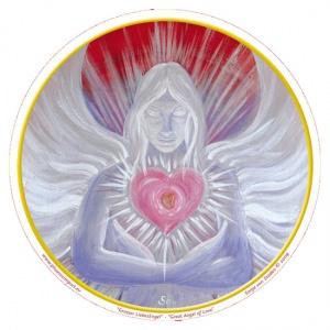 Raamsticker Great Angel Love