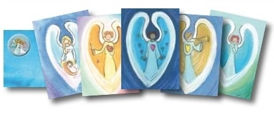 Angel postcards (set of five)