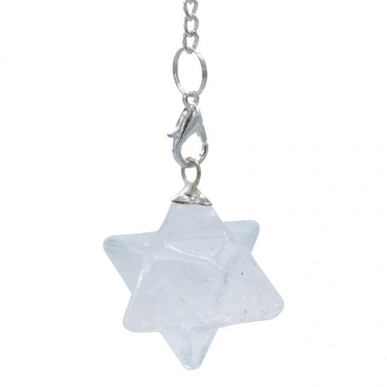 Bergkristal Merkaba pendel - achtpuntig