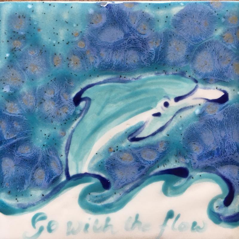 Dolfijn Tegeltje