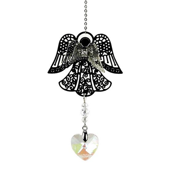 Engel met regenboogkristalhartje (feng shui engeltje)
