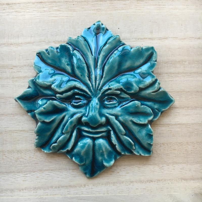 Groene man - oriental blue