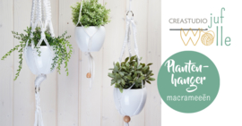 Plantenhanger macramé gratis patroon