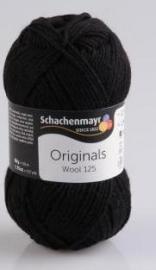 Schachenmayr Wool 125 zwart