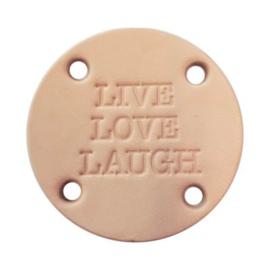 leren label live love laugh