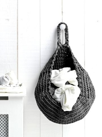 Storage bag antraciet - trendy waszak