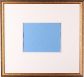 Framing category C (Gold colored framing with a double passe partout).