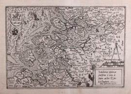 Kaart van Zeeland.