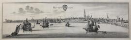 Panorama of Rotterdam.