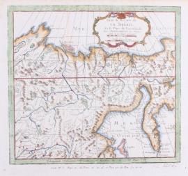 Kaart Siberië.