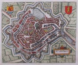 Plattegrond Middelburg.