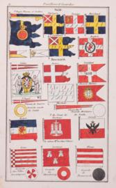 Vlaggenkaartje Zweden, Denemarken.
