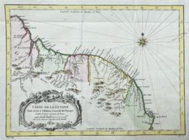 Kaart Suriname en Frans Guyane.