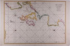 Zeekaart van West Europa.