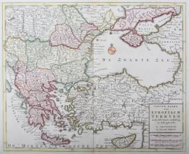 Kaart Turkije en Zwarte zee
