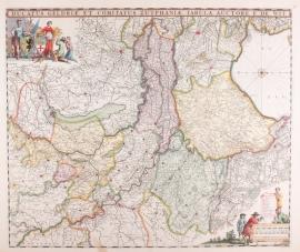 Kaart Gelderland.
