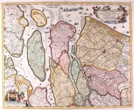 Kaart Schieland en Delftland.