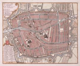 Plattegrond Leiden.