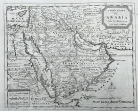 Kaart Arabië en Perzische golf.