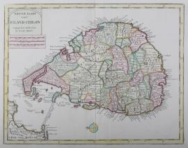 Map of Sri Lanka.