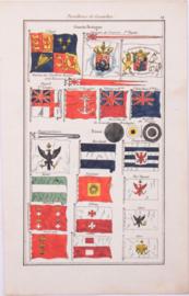Vlaggenkaartje Frankrijk en Pruisen