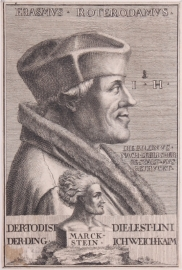 A portrait of Erasmus.