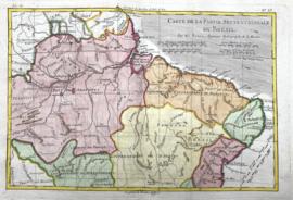 Kaart Brazilië (twee stuks).